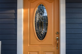 Roslindale-MA-New-Yellow-ProVia-Entry-Door-With-Decorative-Glass-Solid-State-Construction