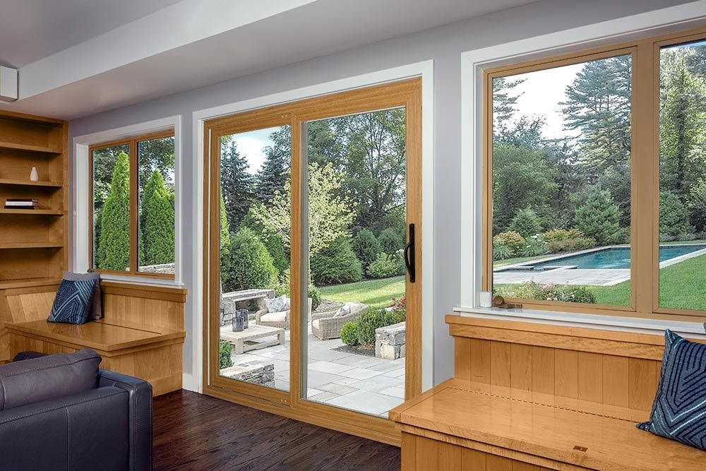 ProVia Aeris Sliding Patio Door - Wood Interior & Vinyl Exterior - Central MA