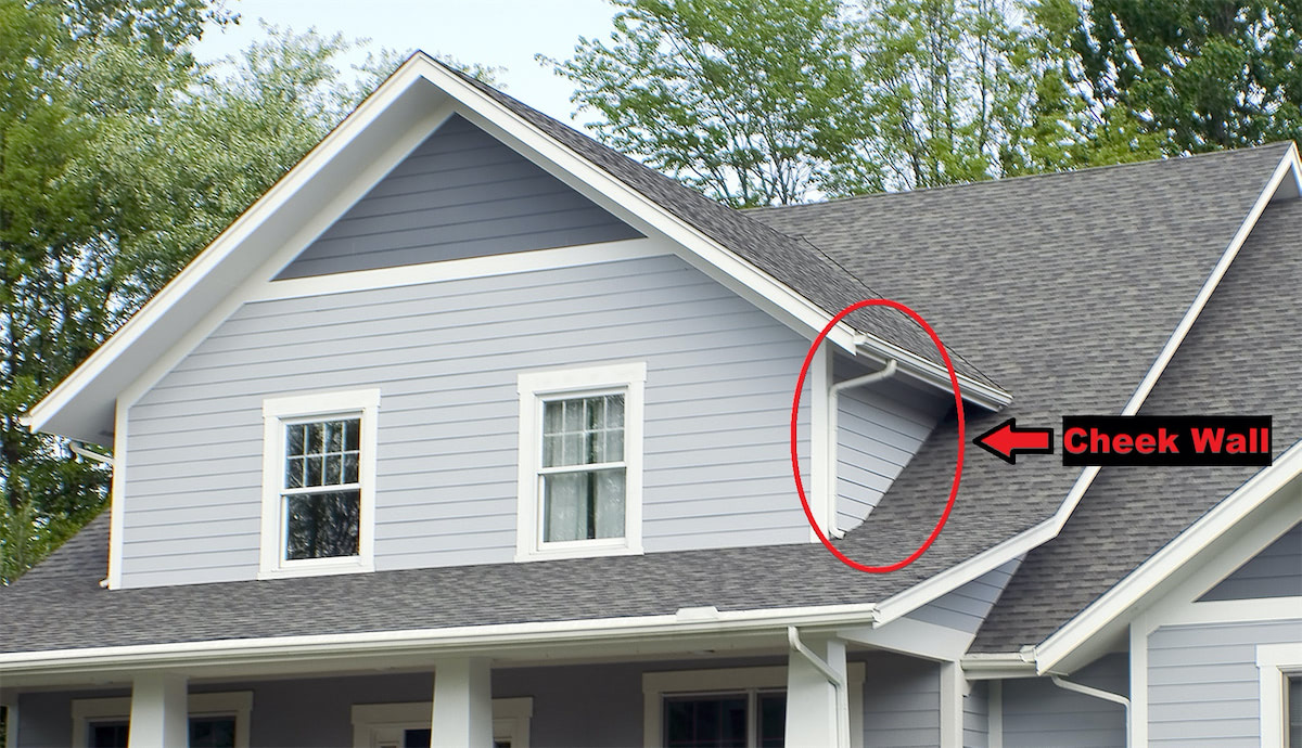 Solid State - Roofing Installation Central MA - Cheek Wall Flashing